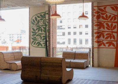 high rise patio lounge area